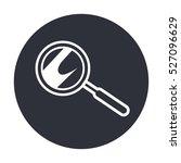 white line magnifying glass... | Shutterstock .eps vector #527096629