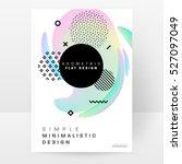 geometric background template... | Shutterstock .eps vector #527097049