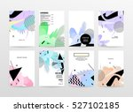 geometric background template... | Shutterstock .eps vector #527102185