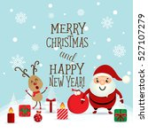 christmas greeting card with... | Shutterstock .eps vector #527107279