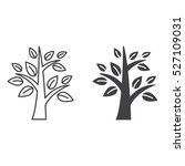 Tree Line Icon  Outline And...