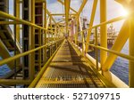 oil and gas industrial platform ... | Shutterstock . vector #527109715