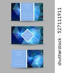 set of vector business cards... | Shutterstock .eps vector #527111911
