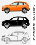car icons. off road vehicle in... | Shutterstock .eps vector #527115049