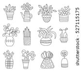 graphic house plant drawings...