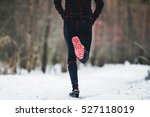 rear view athlete runner is... | Shutterstock . vector #527118019