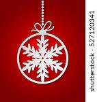 red christmas ball background... | Shutterstock .eps vector #527120341