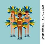 cartoon brazilian women dancers ... | Shutterstock .eps vector #527126335