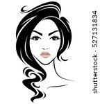 illustration of women long hair ... | Shutterstock .eps vector #527131834