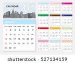 calendar 2017 template design... | Shutterstock .eps vector #527134159