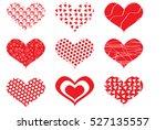 valentine day hearts. | Shutterstock .eps vector #527135557
