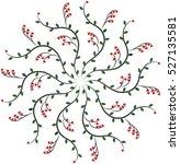 ornamental round pattern.... | Shutterstock .eps vector #527135581