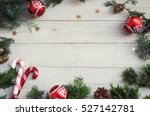 christmas background on the... | Shutterstock . vector #527142781