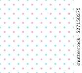 polka dot blue pink seamless... | Shutterstock .eps vector #527150275