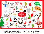 christmas photo booth and... | Shutterstock .eps vector #527151295