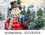 Christmas Card With A Snowman....