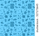 cleaning seamless pattern.... | Shutterstock .eps vector #527173645