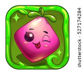 funny app icon with cute pink...