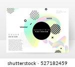 geometric background template... | Shutterstock .eps vector #527182459