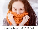 happy girl close up portrait.... | Shutterstock . vector #527185261