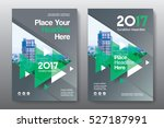 green color scheme with city... | Shutterstock .eps vector #527187991