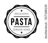 Pasta Vintage Stamp Logo