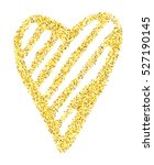 gold glitter heart isolated... | Shutterstock .eps vector #527190145