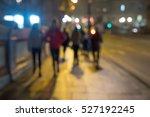 Blurred Image Of People Walkin...