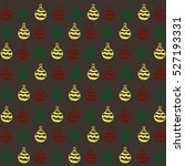 brown christmas toy pattern | Shutterstock . vector #527193331