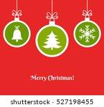 christmas balls ornaments... | Shutterstock .eps vector #527198455