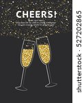 glitter champagne card with... | Shutterstock .eps vector #527202865