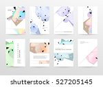 geometric background template... | Shutterstock .eps vector #527205145