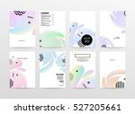 geometric background template... | Shutterstock .eps vector #527205661