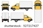 truck vector mock up. isolated... | Shutterstock .eps vector #527217427