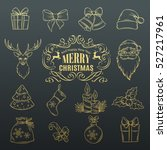 vector set christmas hand drawn ... | Shutterstock .eps vector #527217961