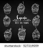set decorative hand drawn... | Shutterstock .eps vector #527219059