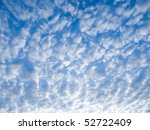 Abstract Blue Sky With White...