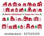 christmas urban landscape | Shutterstock .eps vector #527225155