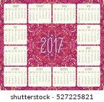 year 2017 vector monthly... | Shutterstock .eps vector #527225821