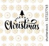 vector merry christmas... | Shutterstock .eps vector #527227765
