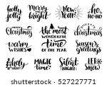 vector handwritten christmas... | Shutterstock .eps vector #527227771