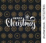vector merry christmas... | Shutterstock .eps vector #527227831