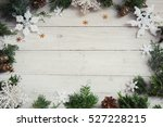 christmas background on the... | Shutterstock . vector #527228215