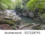 Stock photo autumn forest selva de irati fall beech jungle in navarre pyrenees of spain 527228791