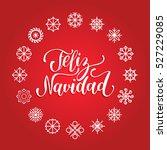 vector feliz navidad ... | Shutterstock .eps vector #527229085