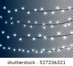 set of realistic color garlands ... | Shutterstock .eps vector #527236321