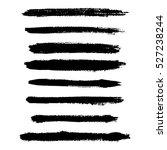 ink brush line collection  set .... | Shutterstock .eps vector #527238244