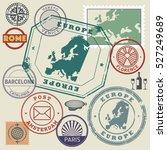 travel stamps or symbols set ... | Shutterstock .eps vector #527249689