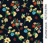 seamless floral pattern in... | Shutterstock .eps vector #527251594