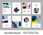 collection of artistic cards... | Shutterstock .eps vector #527252731